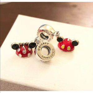 Pandora Minnie & Mickey Ear Hat, Dangle Charm